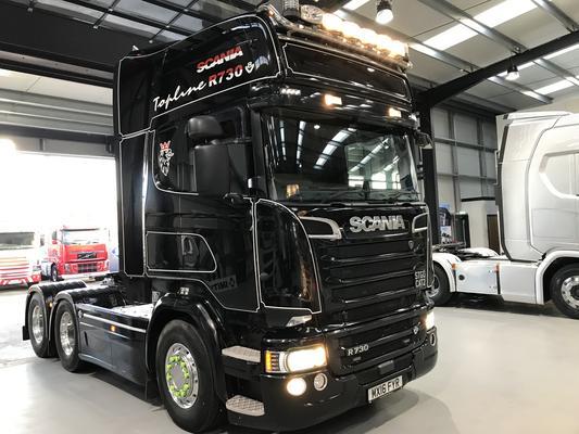 Scania R730 6×4 Double Drive, V8 Topline